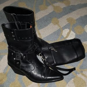 Harley's Davidson leather riding boots